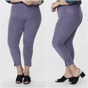 NYDJ Ami Skinny Velveteen Pants Shadow Women 20W